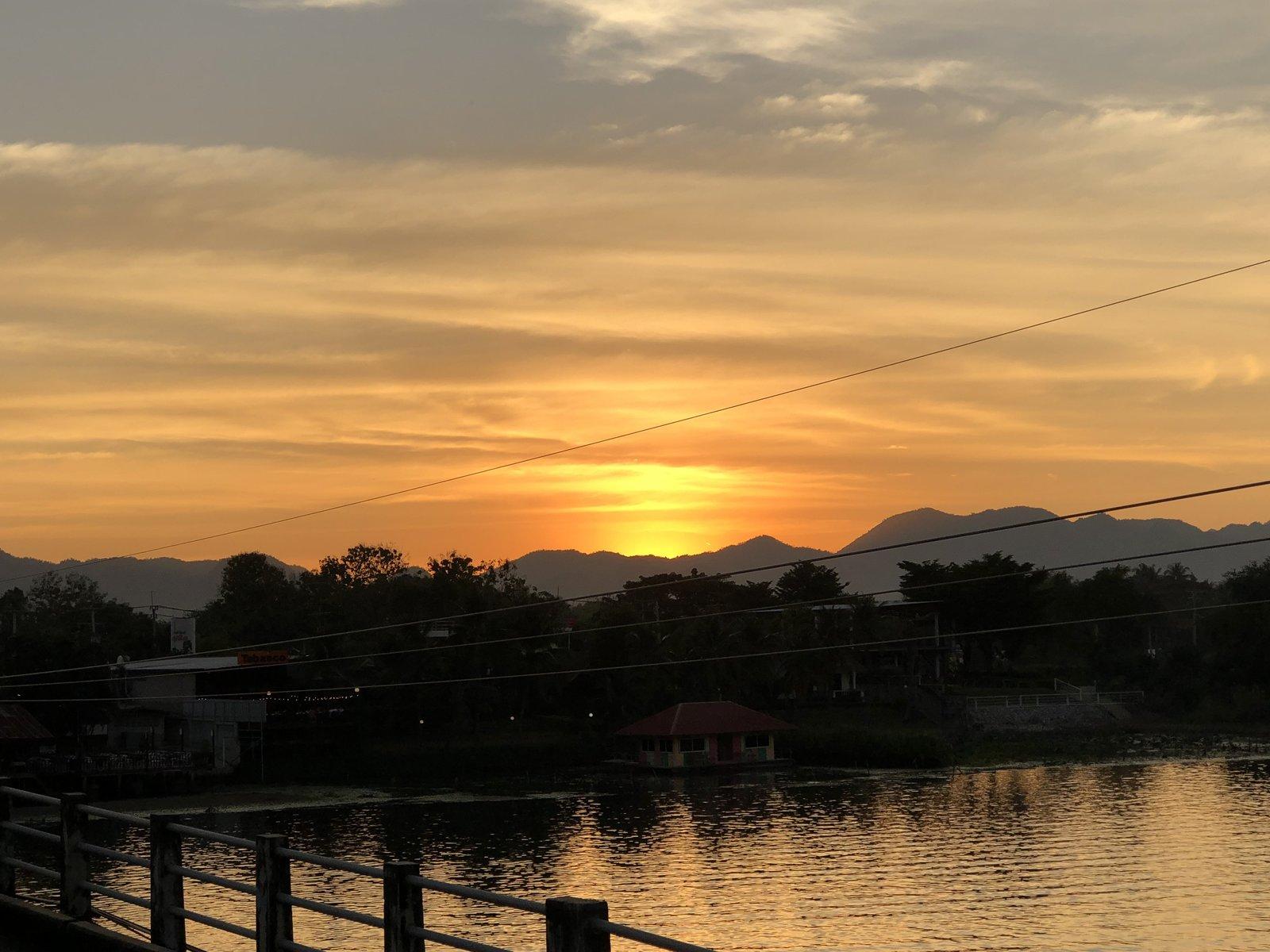 Sunset in Kanchanaburi December 2018