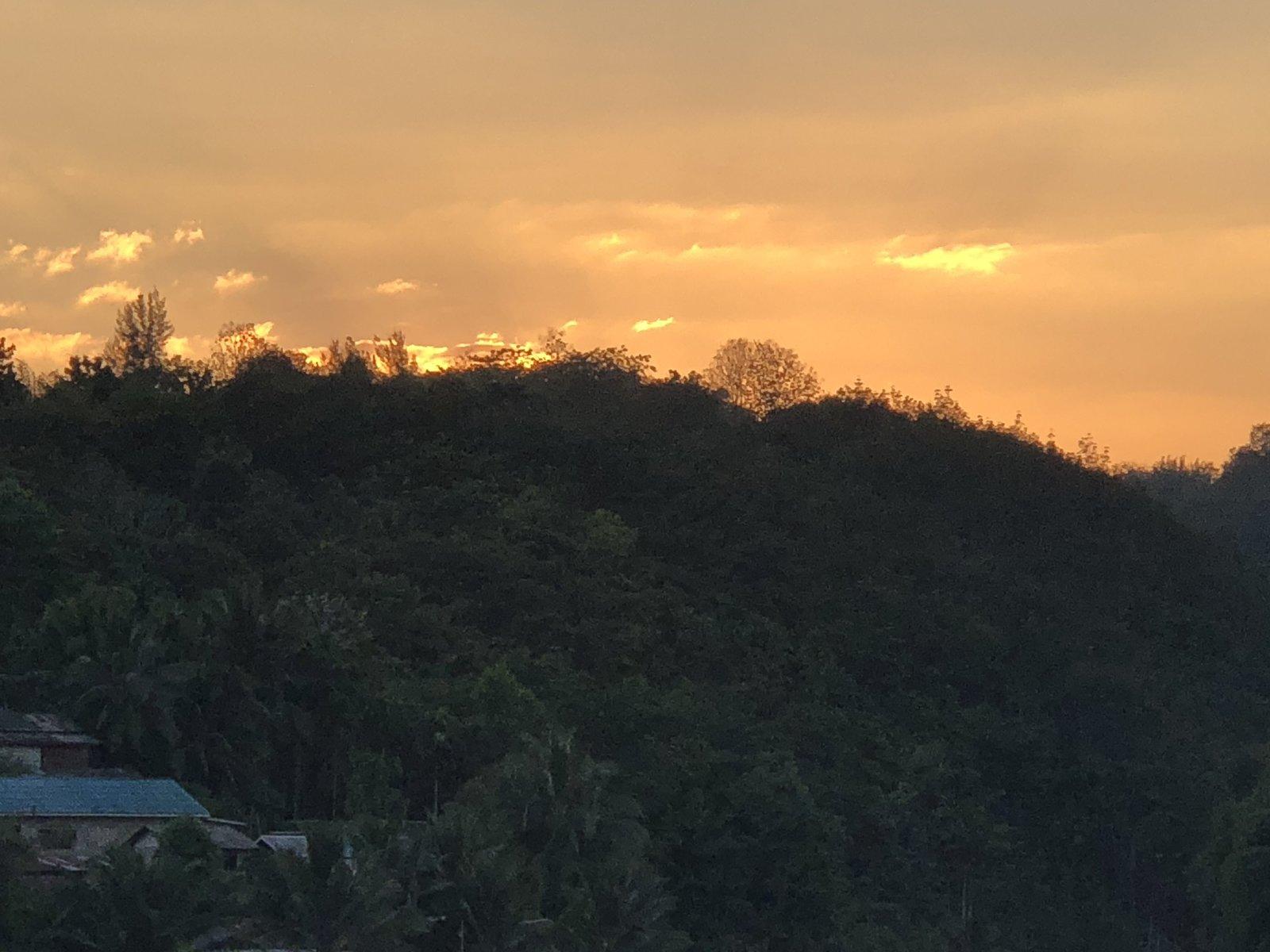 Sunset in Sangklaburi