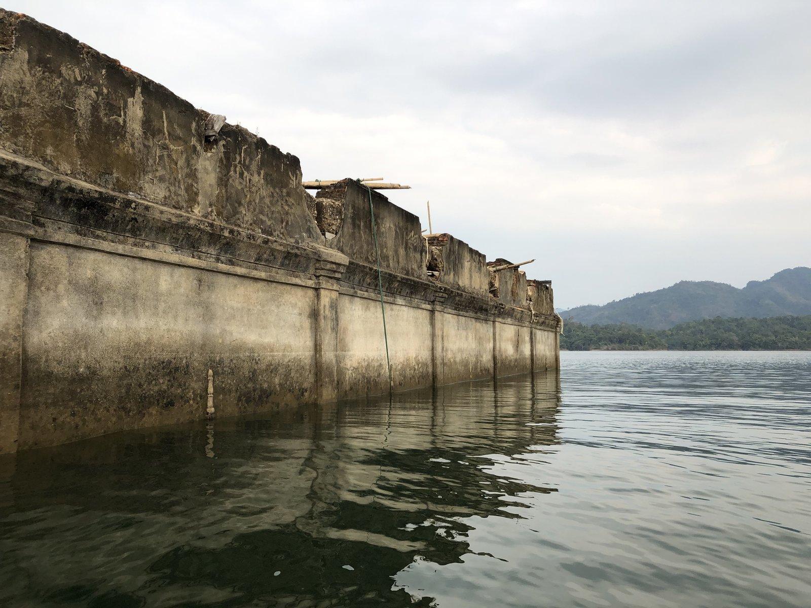 Submerged Temple in Sangklaburi
