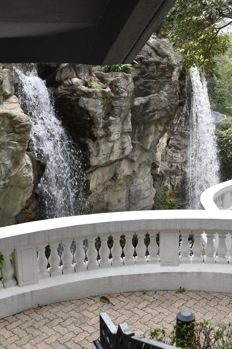 Pond and Waterfall in Hong Kong Park