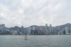 Hong Kong Daytime Skyline From Victoria Harbor