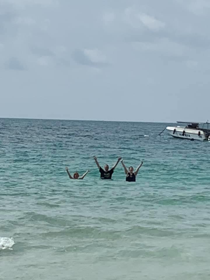 Tracy Dom Bretney Swimming In The Sea