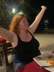 Tracy Enjoying The Beach Night
